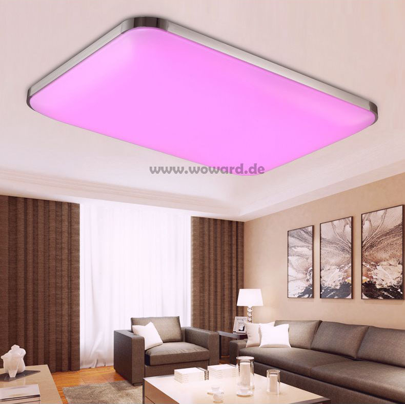 dimmbar led deckenlampe 30w 108w deckenleuchte rgb farbwechseln wandlampe 500r ebay. Black Bedroom Furniture Sets. Home Design Ideas