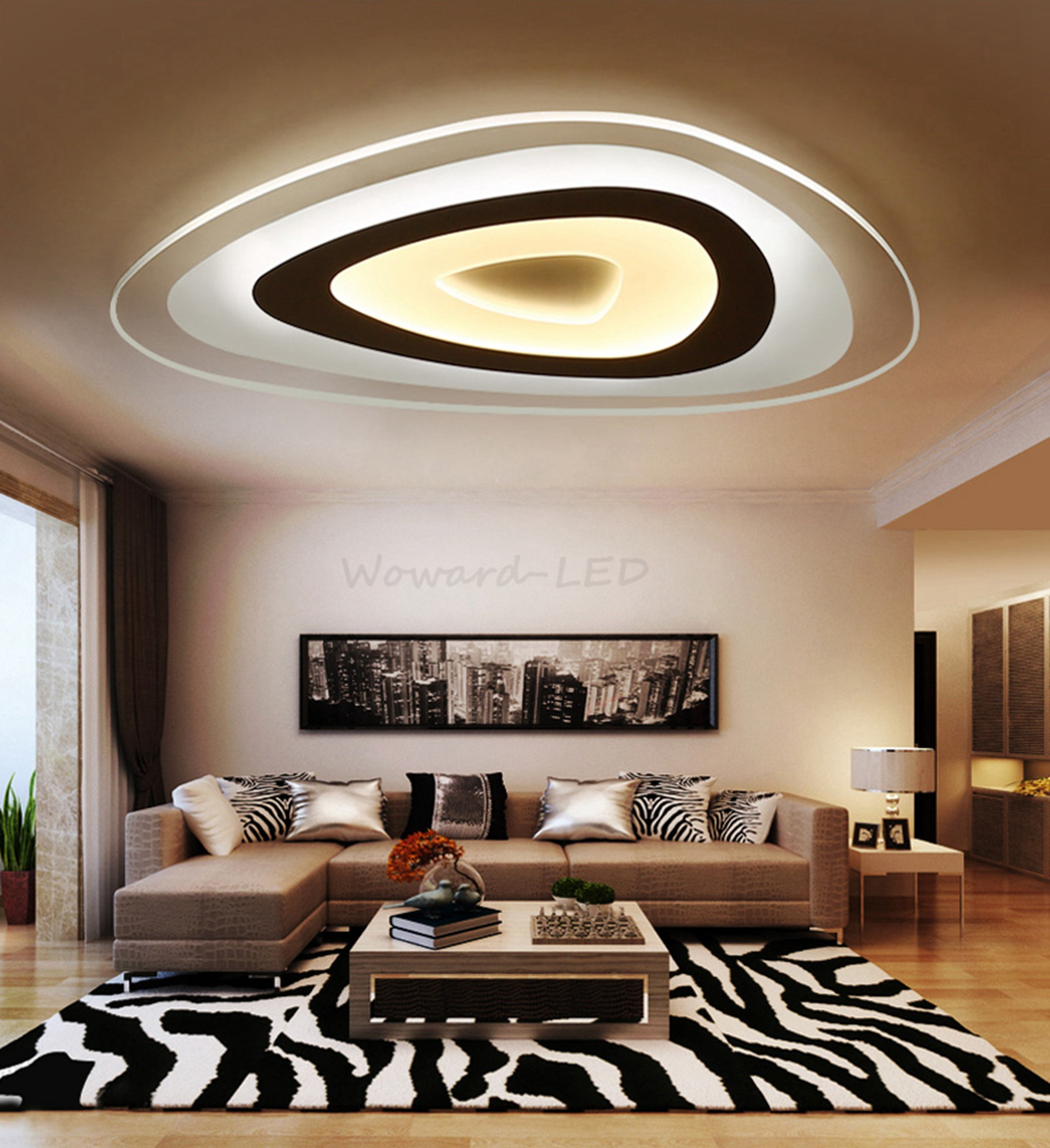 led deckenlampe deckenleuchte 16w bis 114w dimmbar lampe beleuchtung ebay. Black Bedroom Furniture Sets. Home Design Ideas