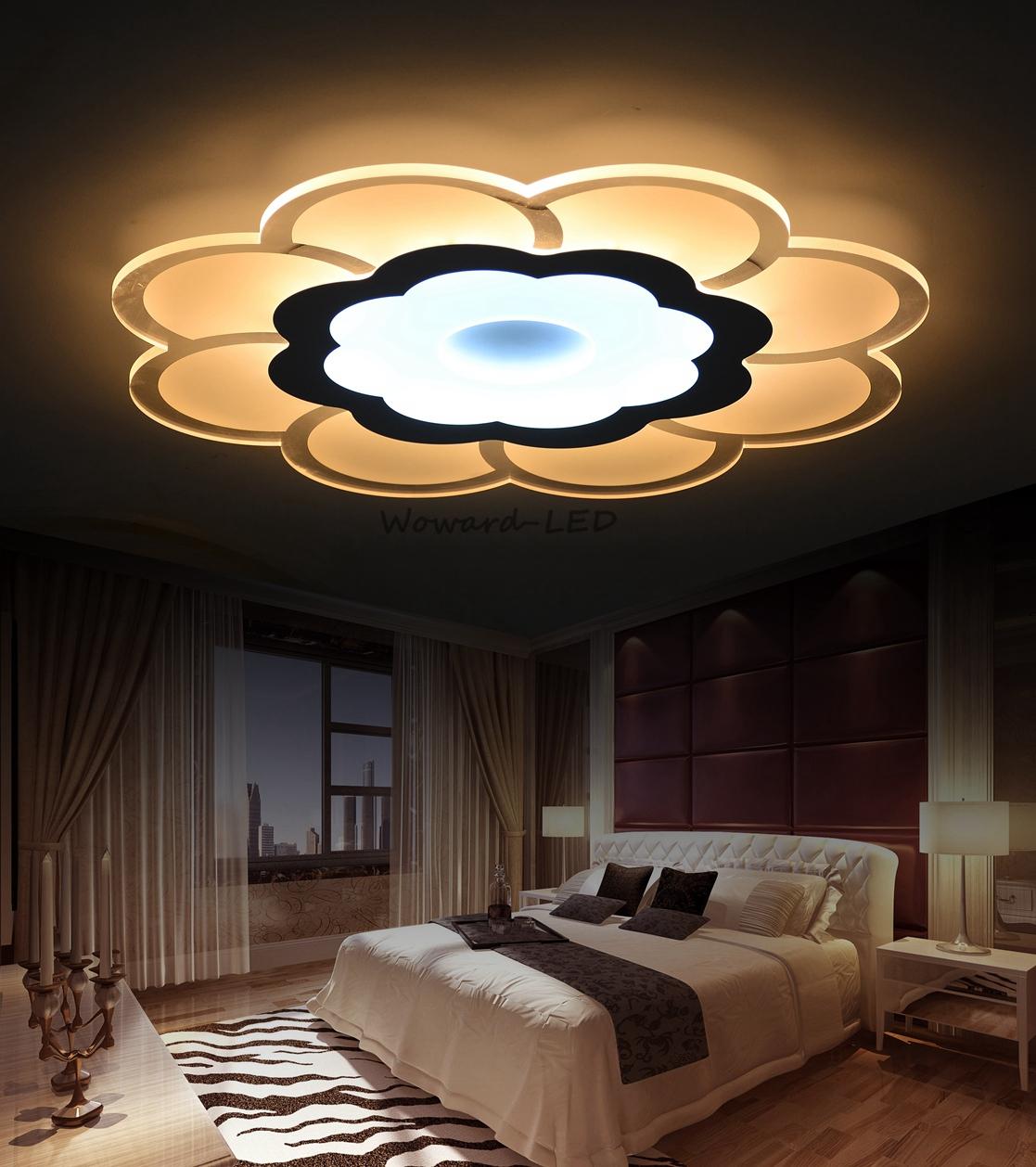 led deckenlampe deckenleuchte 16w bis 108w dimmbar lampe beleuchtung wow blumen1 ebay. Black Bedroom Furniture Sets. Home Design Ideas