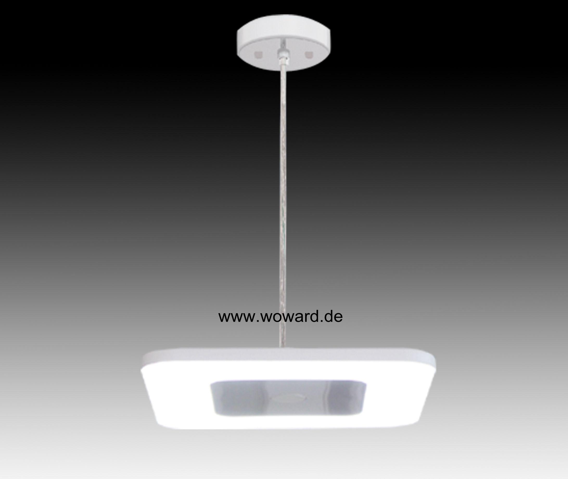 Led h nge 30w deckenlampe leuchte pendel decke lampe for Deckenlampe viereckig