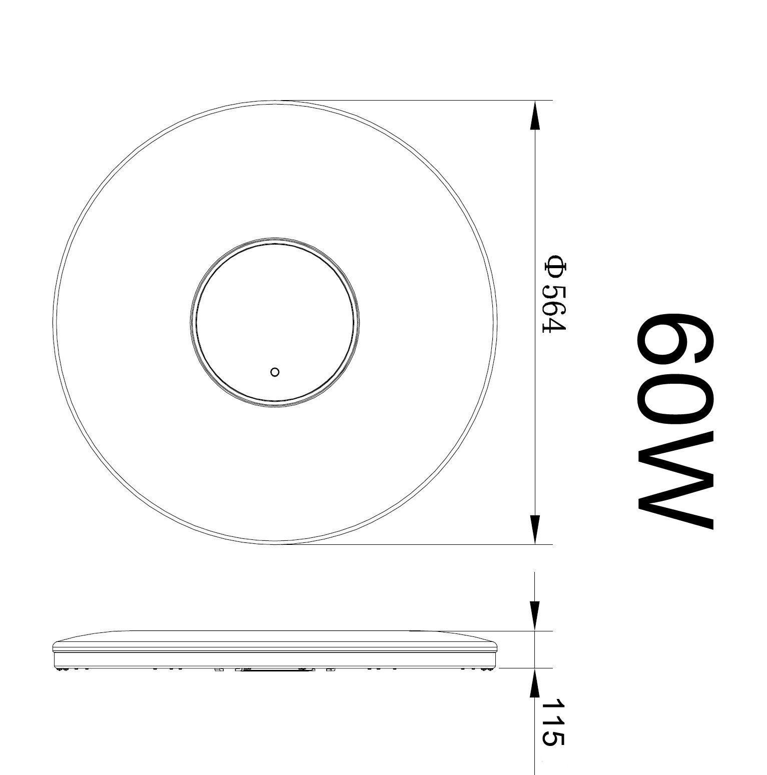 led deckenlampe wandlampe deckenleuchte dimmbar 60 40w. Black Bedroom Furniture Sets. Home Design Ideas