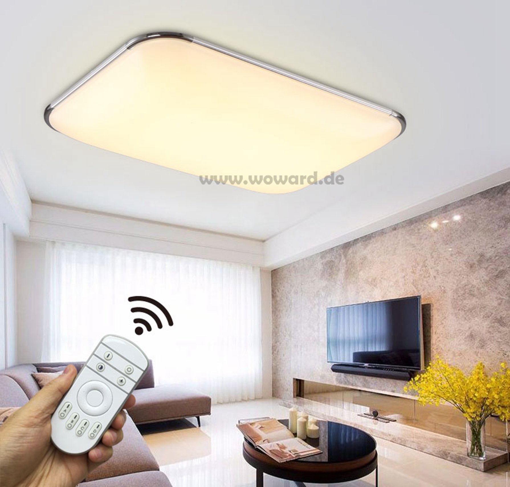 led deckenlampe deckenleuchte 12 90w dimmbar wand lampe. Black Bedroom Furniture Sets. Home Design Ideas