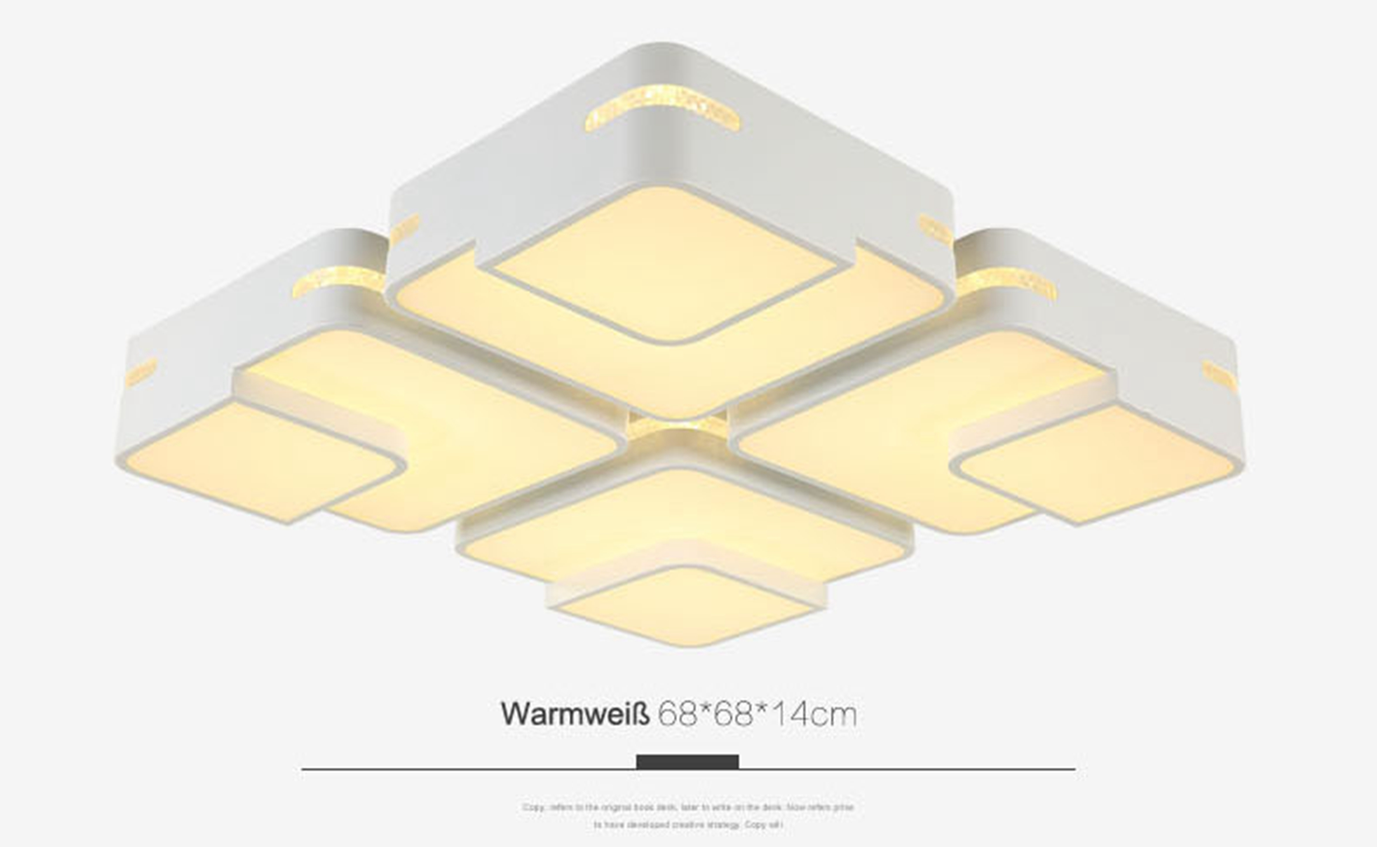 dimmbar led deckenlampe deckenleuchten 30w 72w wandlampe p. Black Bedroom Furniture Sets. Home Design Ideas