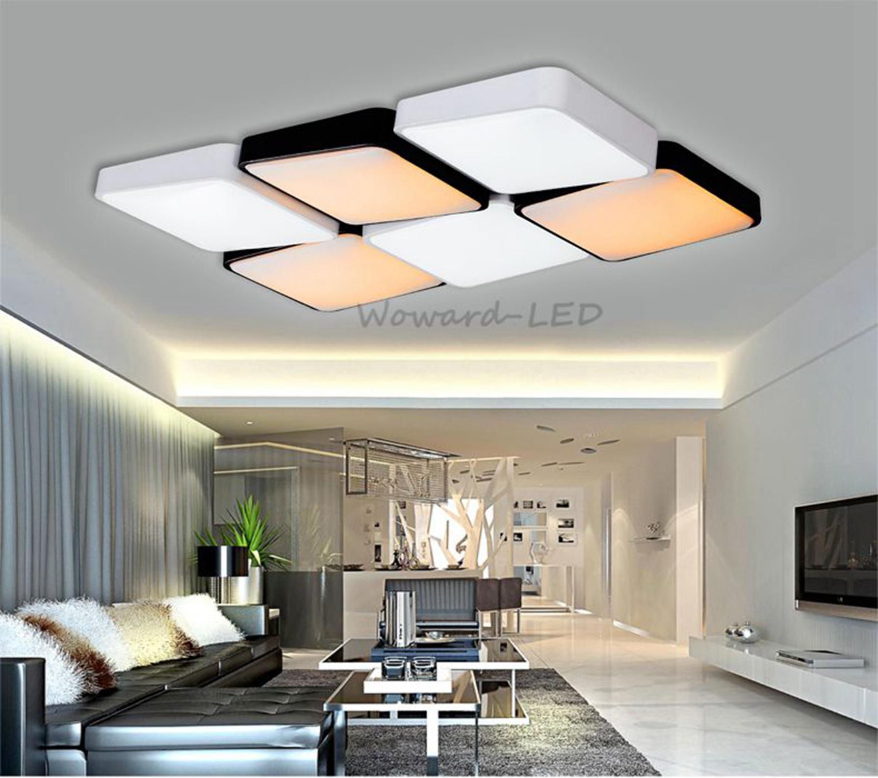 wow dimmen led deckenlampe deckenleuchte 64w 96w lampe beleuchtung fernbedienung ebay. Black Bedroom Furniture Sets. Home Design Ideas