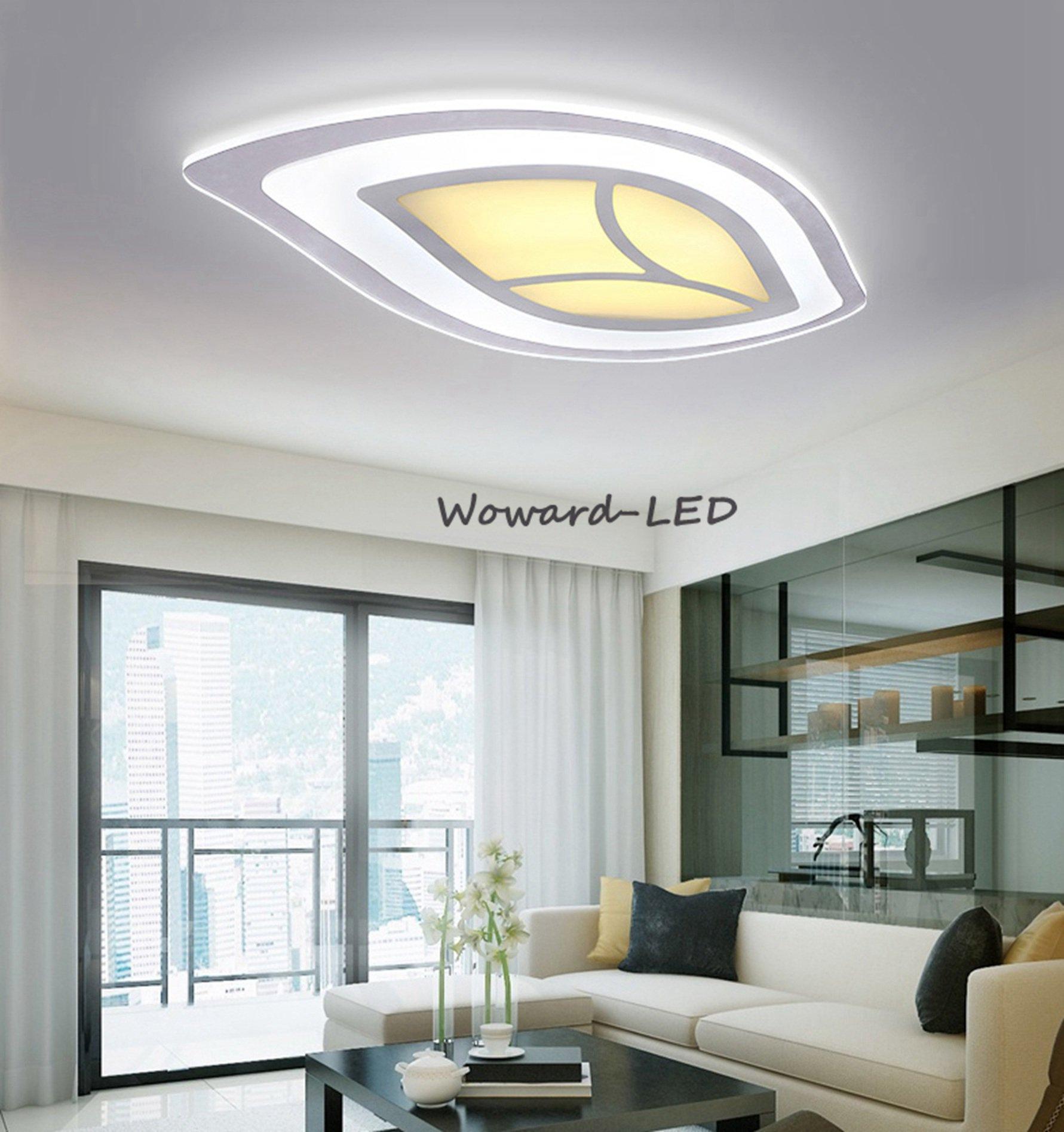 wow bl tter led deckenlampe deckenleuchte 16w bis 100w dimmbar lampe beleuchtung ebay. Black Bedroom Furniture Sets. Home Design Ideas