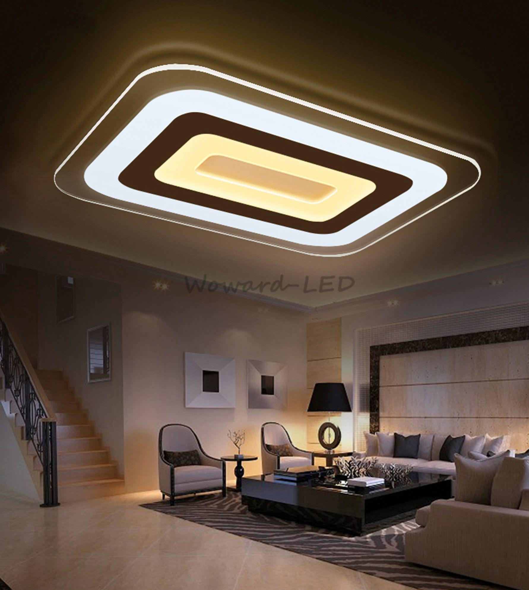 Led deckenlampen decken leuchte 16w bis 114w dimmbar lampe - Deckenlampe wohnzimmer ...