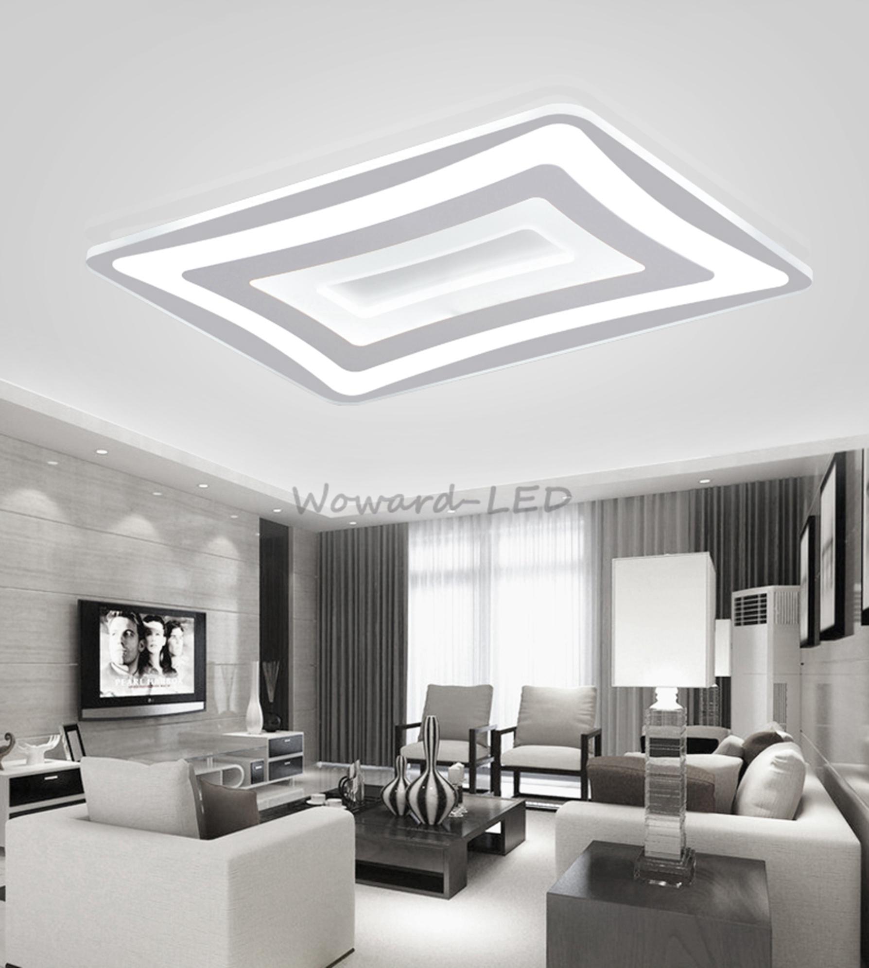 Led deckenlampe deckenleuchte 48w bis 148w dimmbar lampe for Deckenlampe viereckig