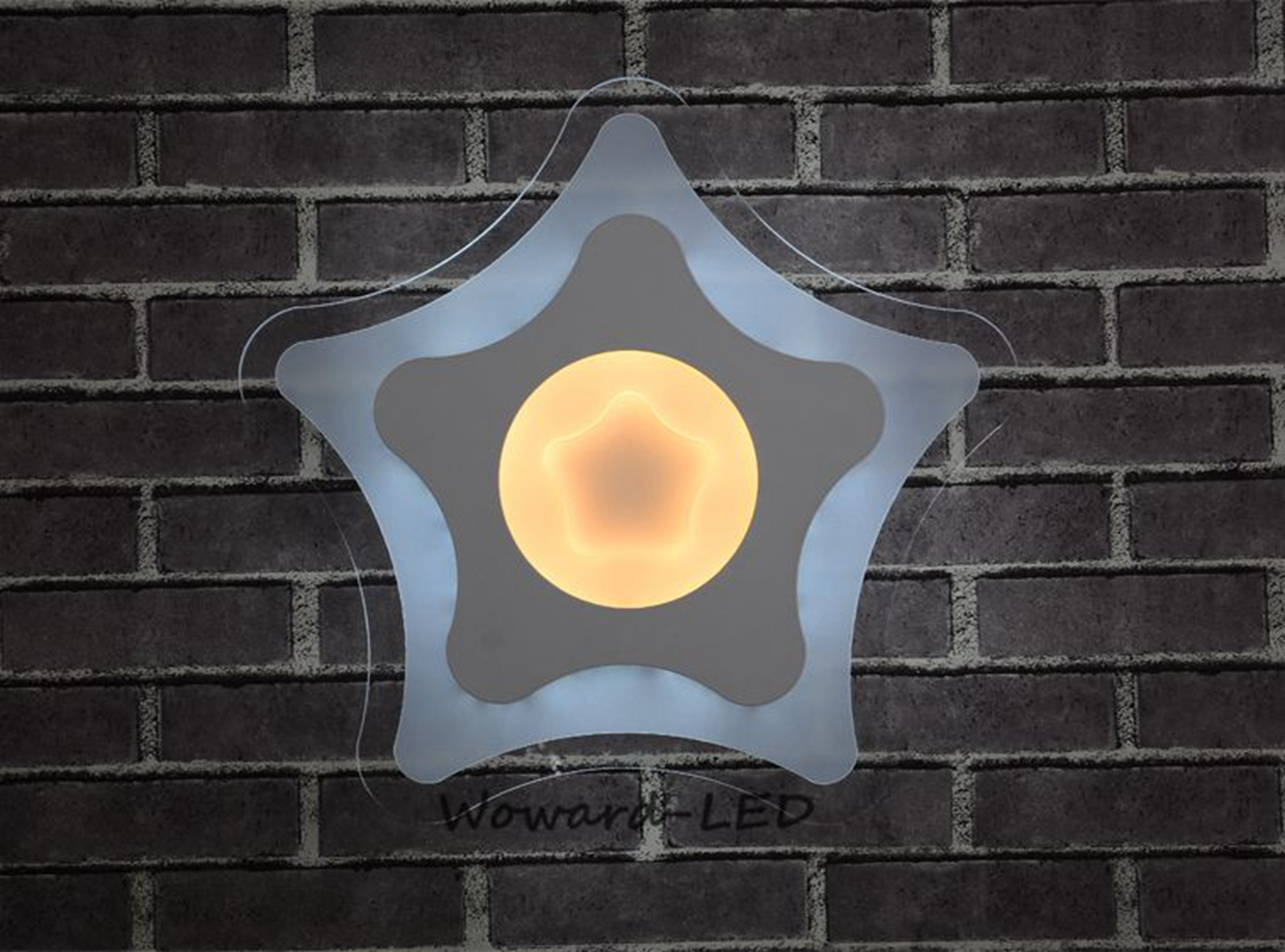 wow stern led deckenlampe deckenleuchte 16w bis 72w dimmbar lampe beleuchtung ebay. Black Bedroom Furniture Sets. Home Design Ideas