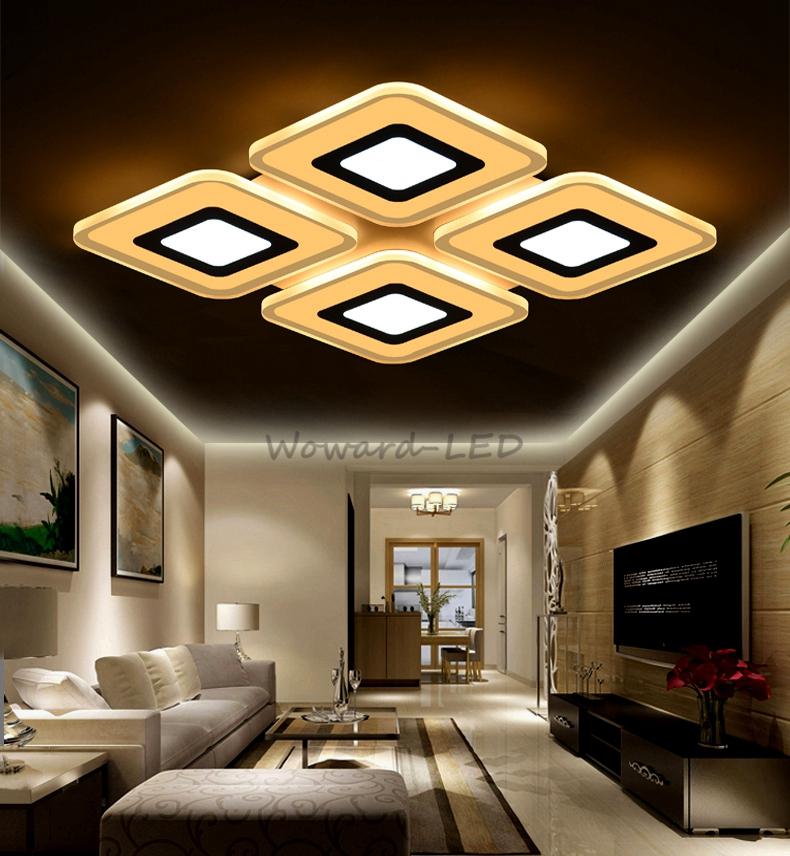 Wow dimmbar led deckenlampe deckenleuchte 80w wandlampe for Deckenlampe viereckig